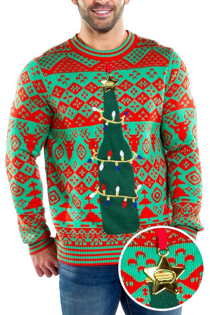 Mens Beer Bottle Ugly Christmas Sweater