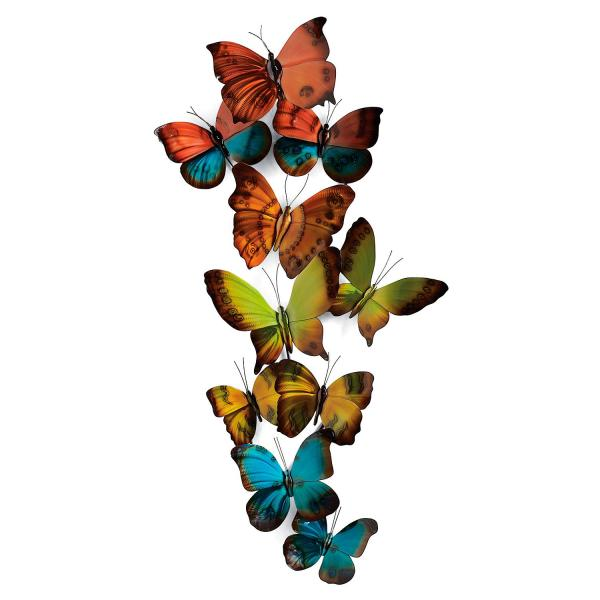Metal Wall Art Butterfly Tower