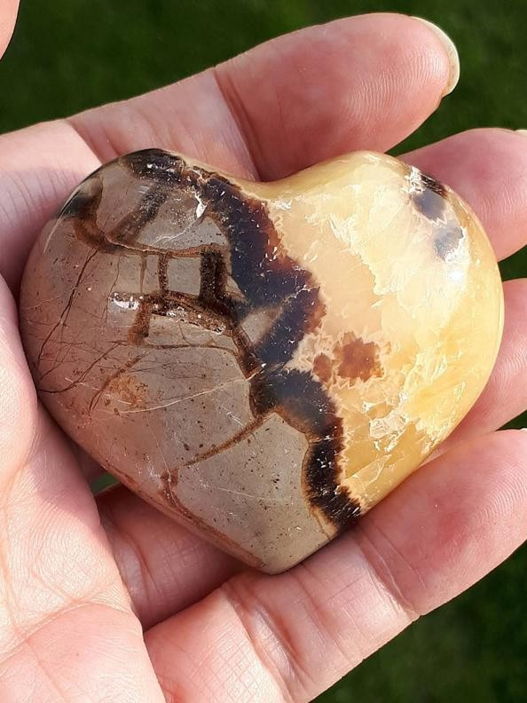 Septarian Stone Carved Heart