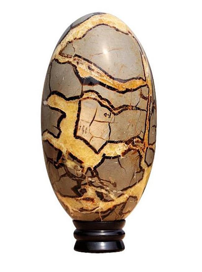 Yellow Septarian Stone Chakra Sphere