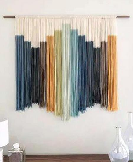 Fabric Wall Hangings - Dyed String