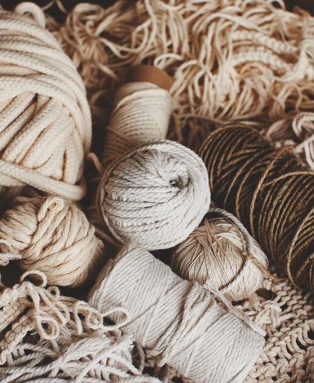Fabric Wall Hangings - Macrame