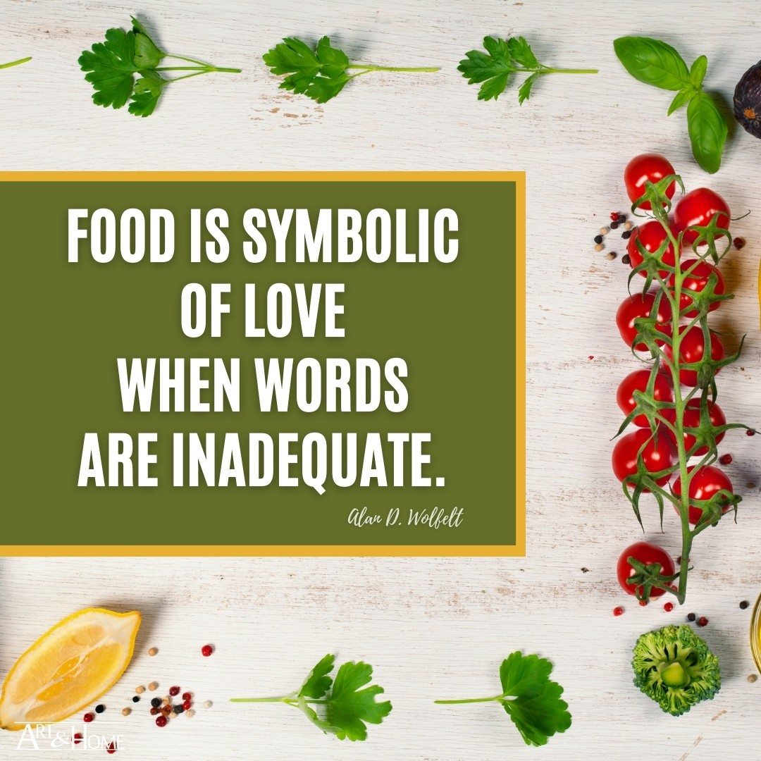 Food is Symbolic of Love Quote
