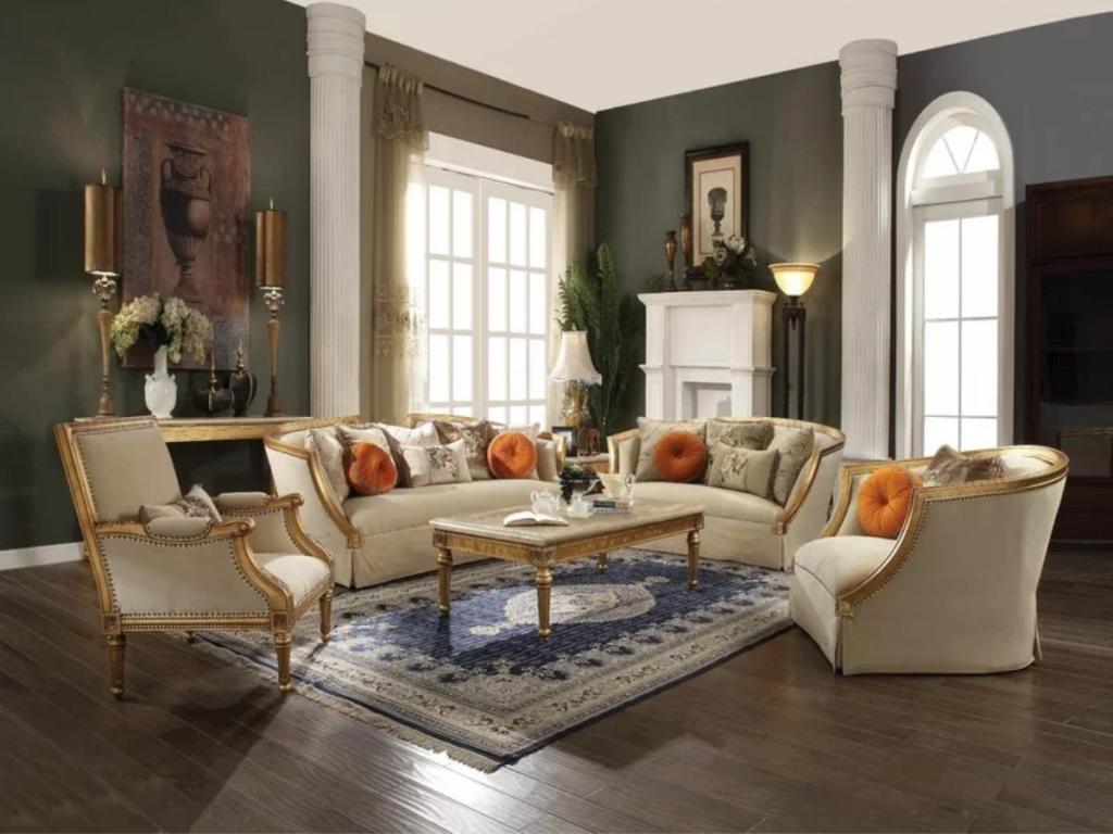 Strike Design Gold With Gold Living Room Furniture Art Home