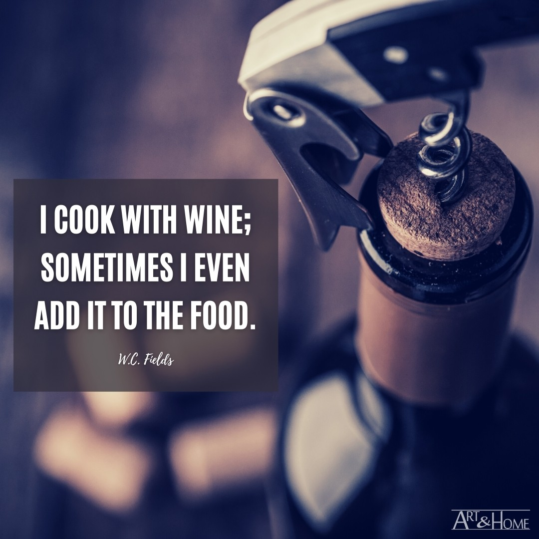 W.C. Fields Quote About Cooking With Wine