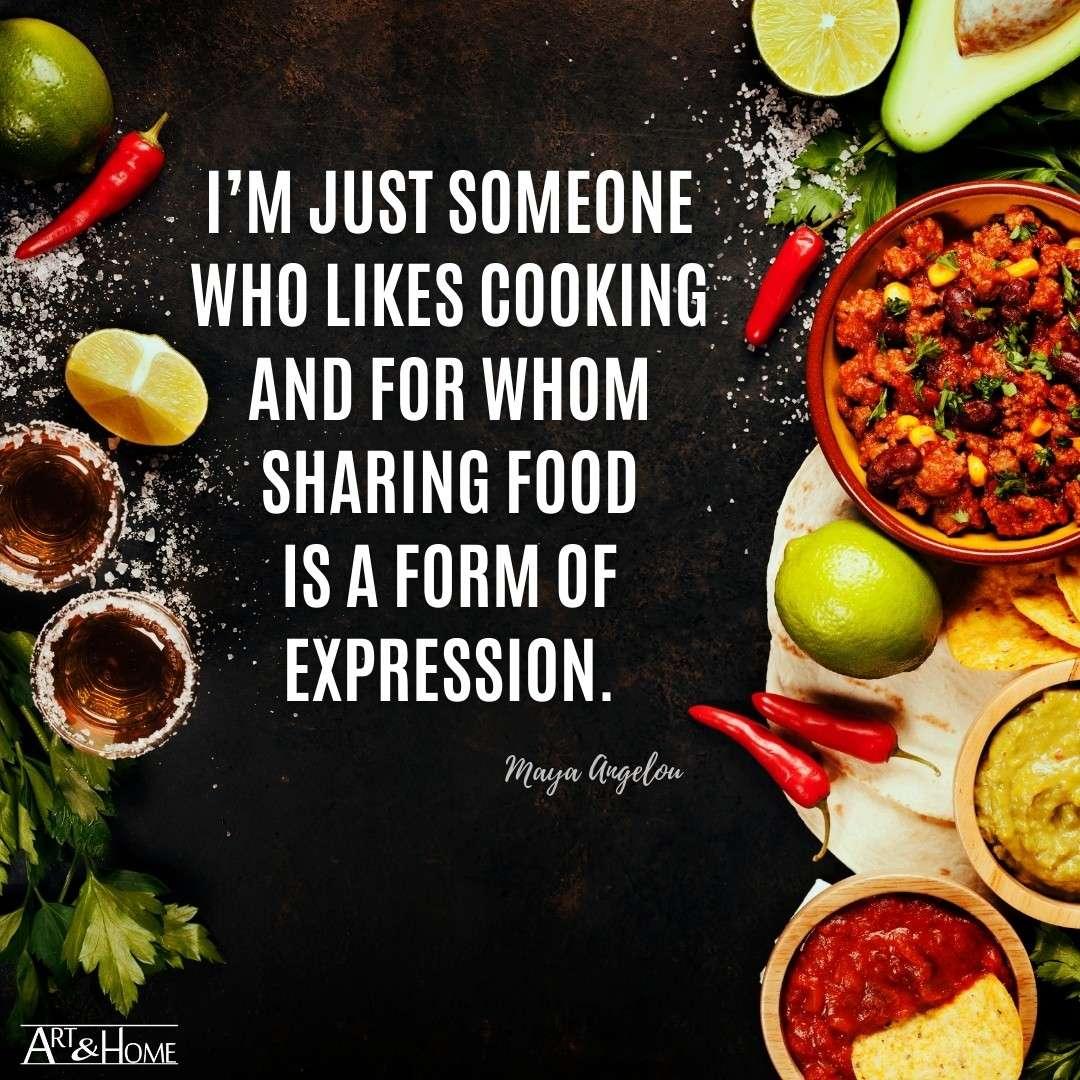 Sharing Food Maya Angelou Quote