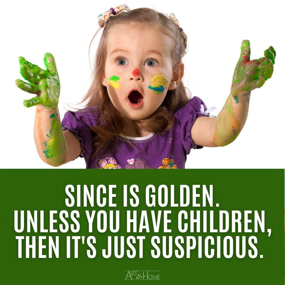 Silence is Golden Children MEME