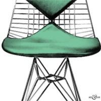 Mid-Century Eames Panton Chair - Graphic Pop Art | Art & Hue