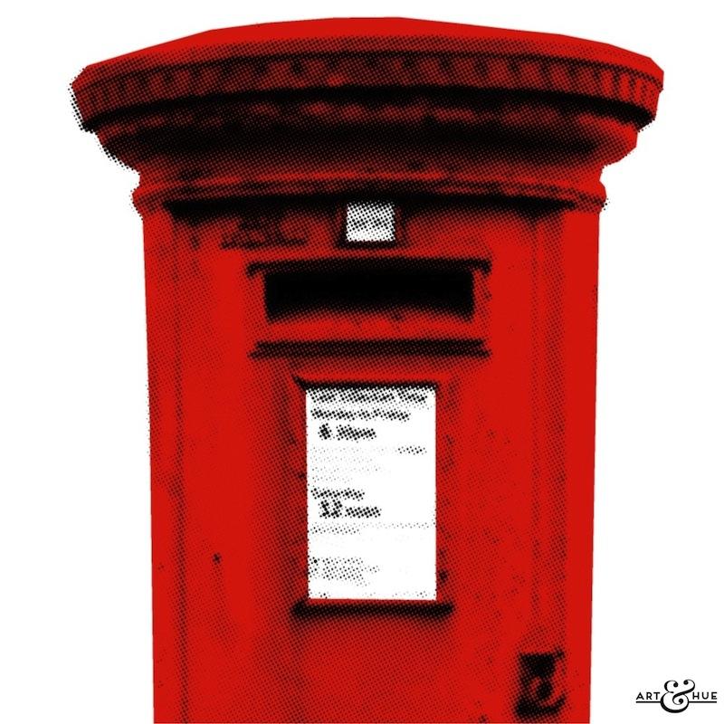 Post Box  Stylish Pop Art  Bespoke  Custom Art  Art  Hue