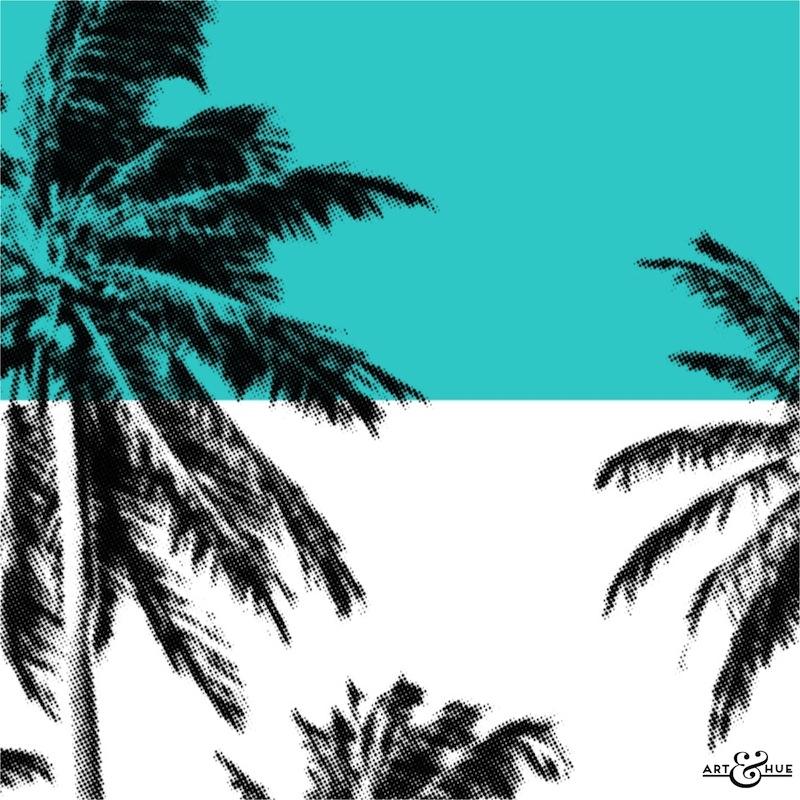 Minimal Beach Palm Trees  Graphic Pop Art  Art  Hue