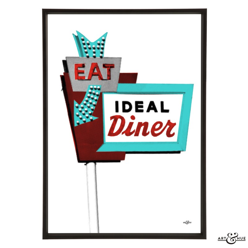 Diner Sign Stylish Pop Art Bespoke Amp Custom Art Art