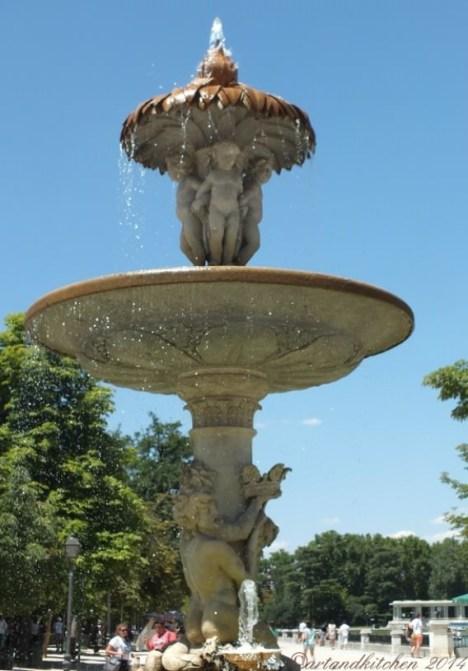 Madrid Retiro Park Fountain