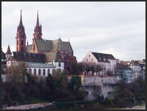 Basel Walking Tour January 2015 _ Münster from Wettsteinbrücke