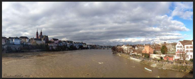 Basel Walking Tour January 2015 _ View from Wettsteinbrücke 2
