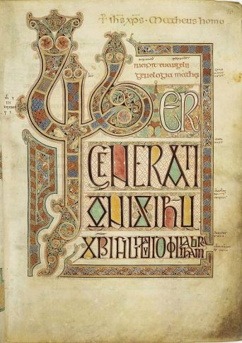 Detail from the Lindisfarne Gospel