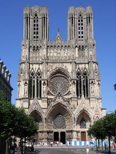 West façade of Reims Cathedral.