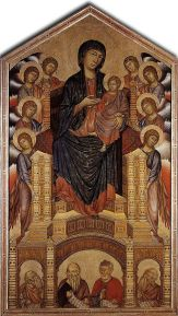 Cimabue, Madonna Enthroned in Majesty with Angels, c. 1285