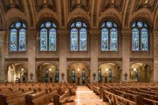 Basilica of St. Mary (Minneapolis, MN). Interior windows and confessionals. Photo provided by parish.