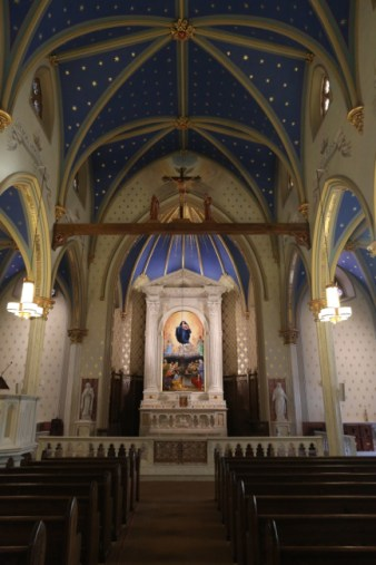 St. Mary Church (Norwalk, CT). Apse and rood cross. Photo from the Society of St. Hugh of Cluny website.