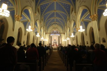 St. Mary Church (Norwalk, CT). Interior vista. Photo from the Society of St. Hugh of Cluny website.
