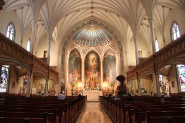 St. Patrick Church (New Orleans, LA). Interior vista. Photo from Visit New Orleans.