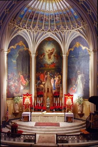 St. Patrick Church (New Orleans, LA). Sanctuary. Photo from parish website.