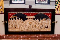 St. Peter Church (Lindsay, TX). A station of the Cross. Photo from parish website, copyright Mike McGee.