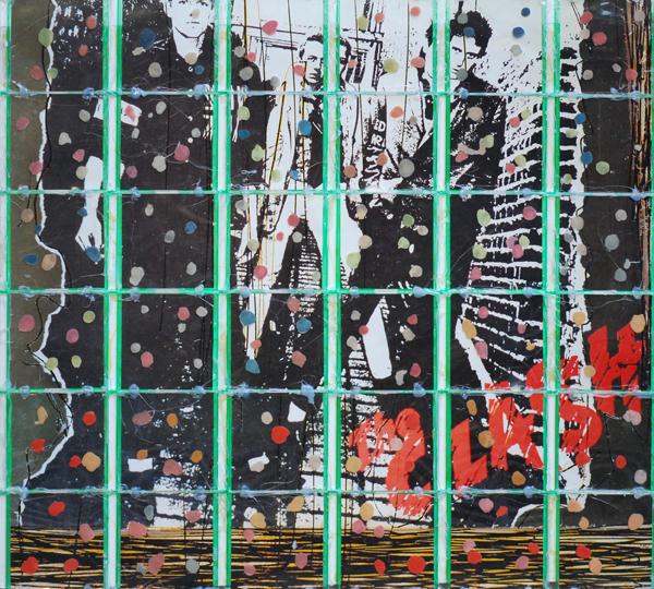 Bertrand Kelle, Fan_Club_Clash_2007_-_2008_photographie_chewing_gums_boitiers_CD_colle_85_x_75_cm