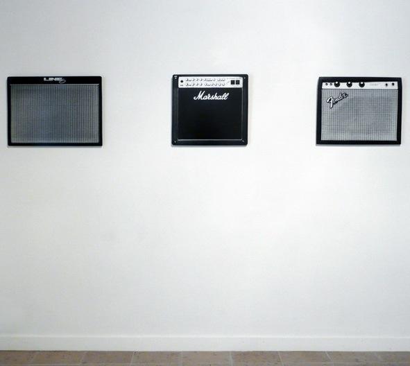 Philippe gronon, Vue d'exposition, Rock it, Galerie Barnoud, 2011