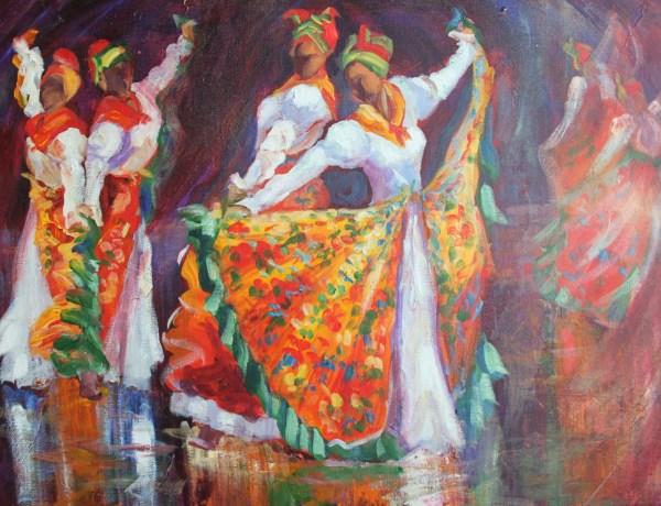 Caribbean Dancing Girls Susan Mains