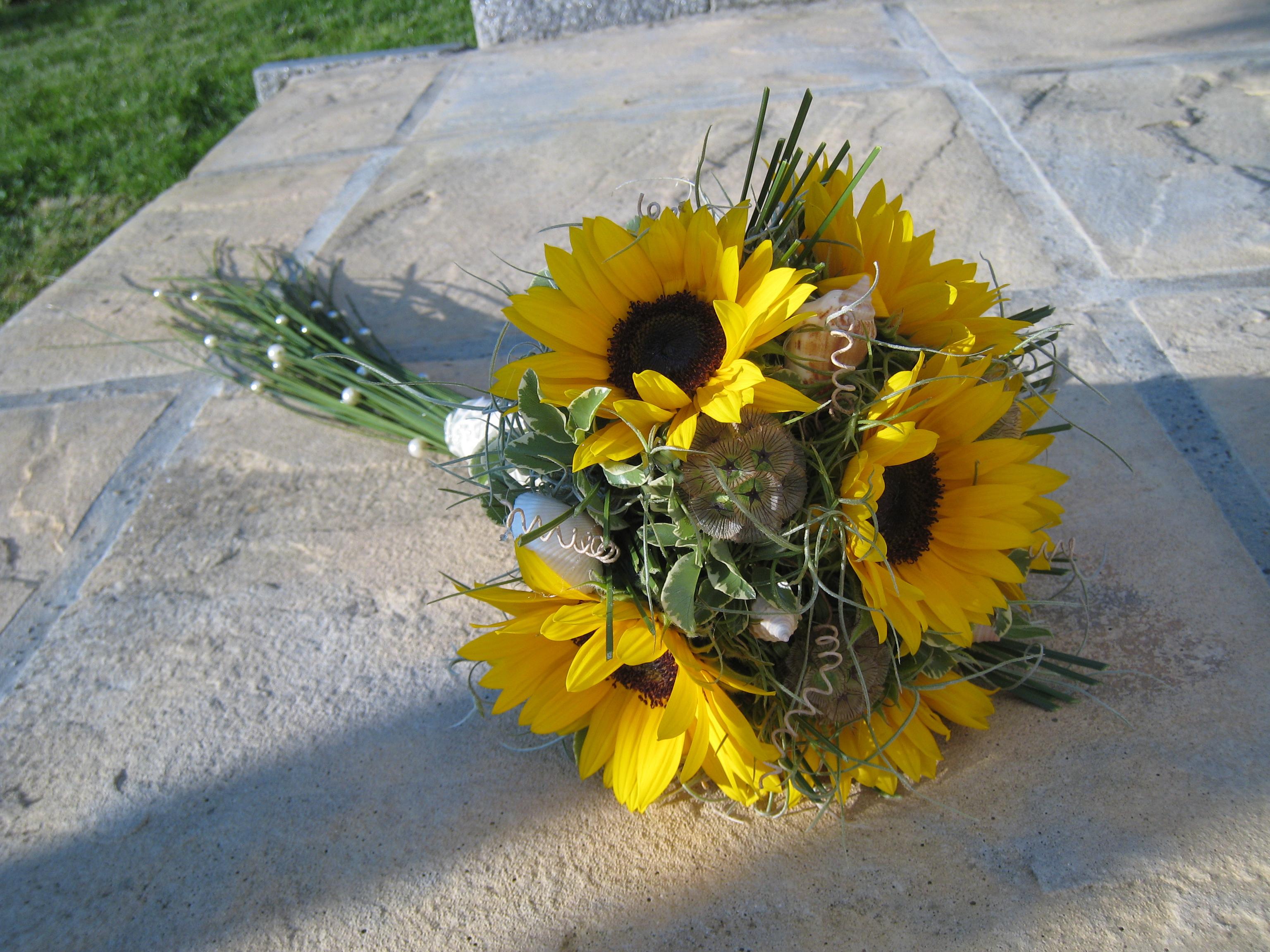 Hochzeit Blumendeko Sonnenblumen