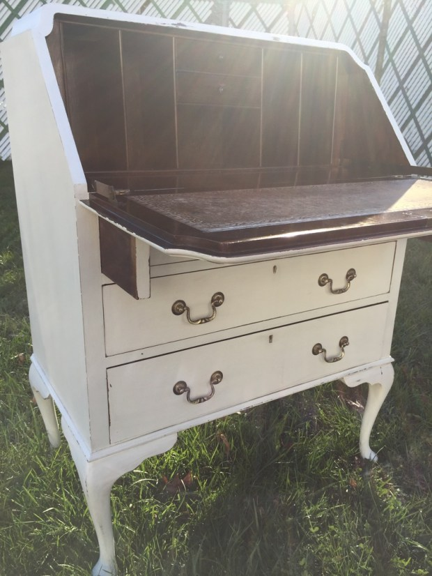 Vintage Secretary Desk White - Antique White Secretary Desk - Home Design Ideas