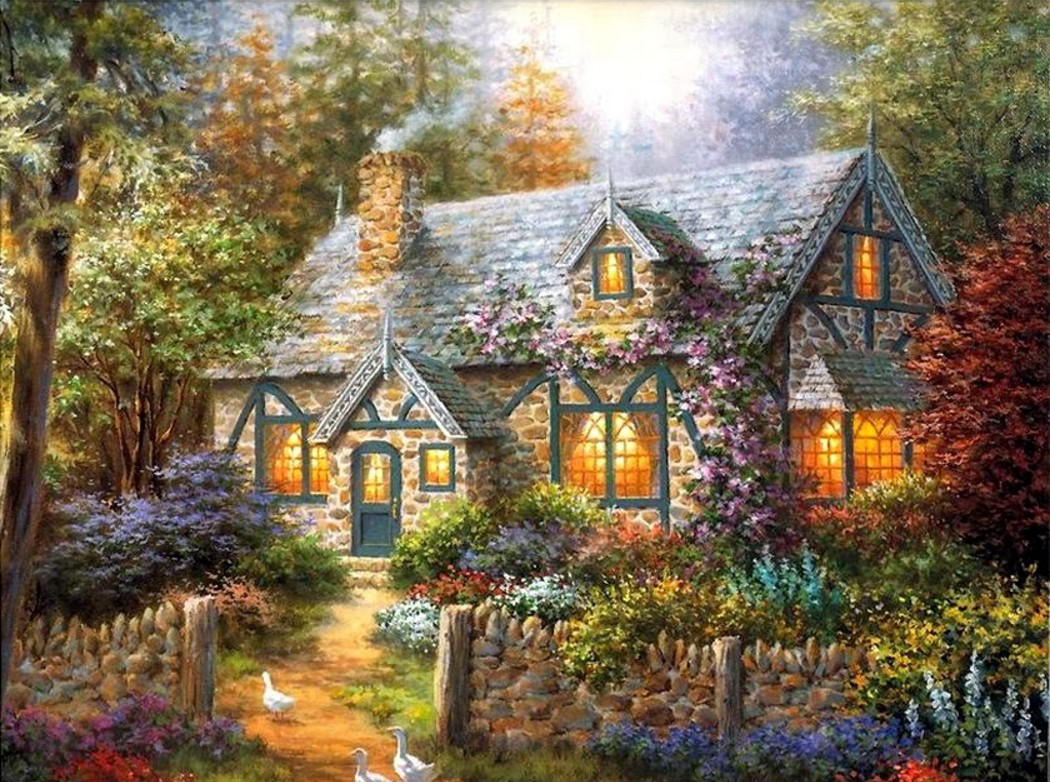 Fall Paintings Wallpaper Nicky Boehme Arta Pentru Oameni Simpli