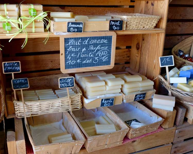 Organic soaps from donkey's milk