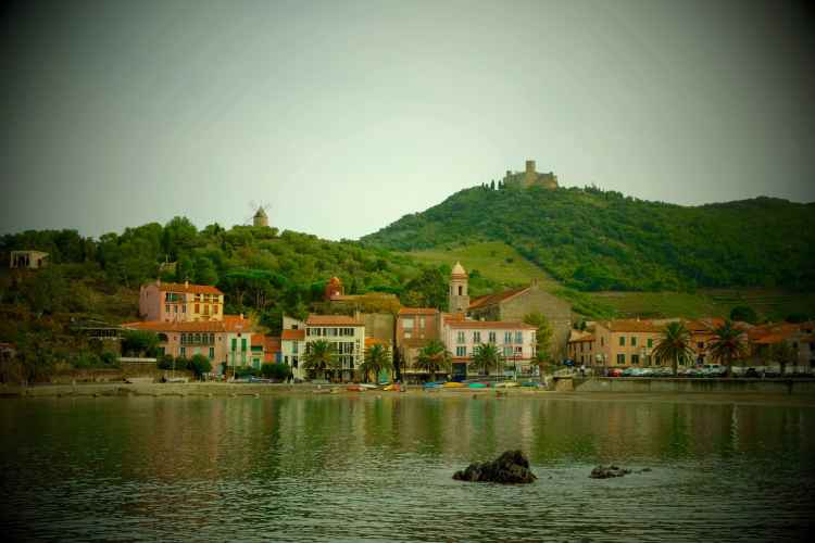Fun filtered view of Collioure