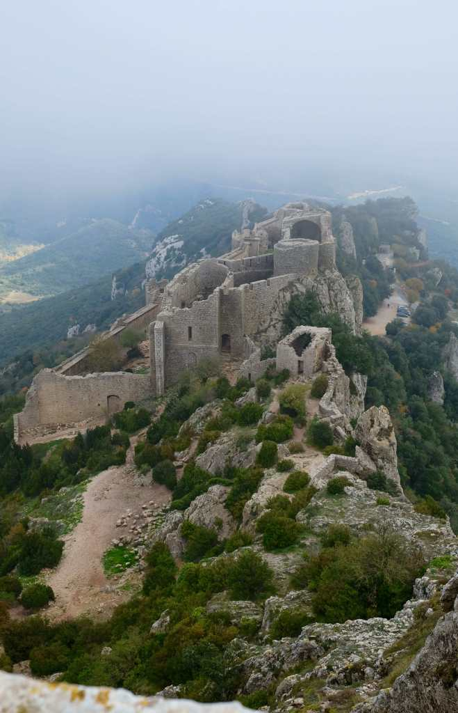 Mists swirling around Peyrepertus
