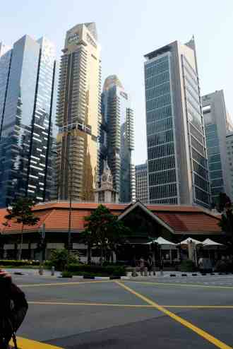 Singapore Hawker and high rises