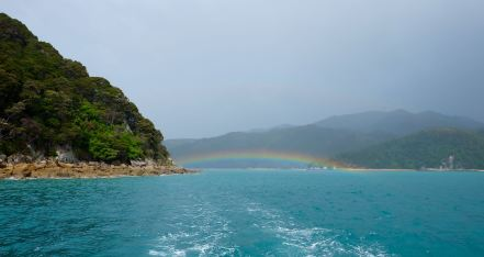 Rainbows in Abel Tasman