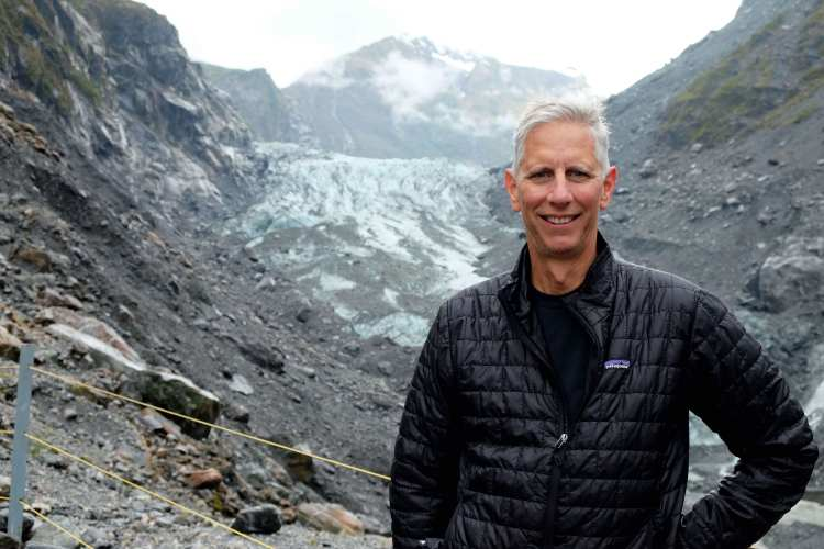 Jeff looks good with a glacier on his shoulder