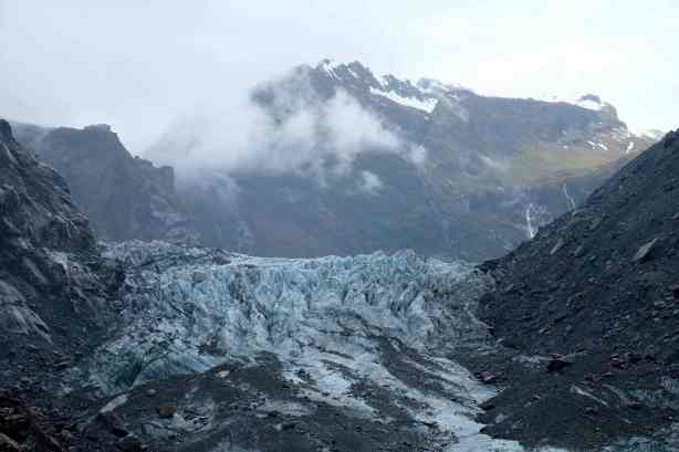 Fox Glacier and Southern Alps