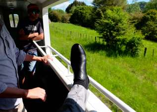 Viewing car Kiwi Rail