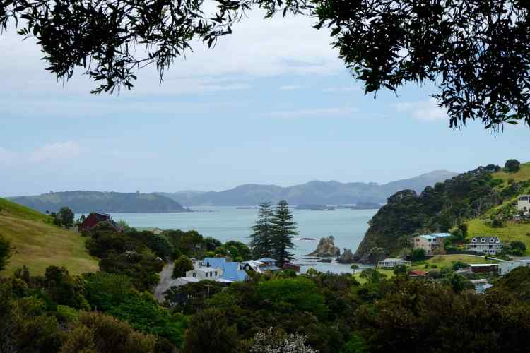 View north from Russell to Bay of Islands
