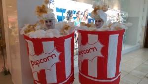 Popcorn costumes, Street entertainers Ireland