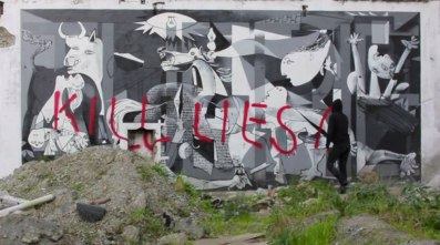 """Speaking of Picasso paintings getting vandalized...In Tony Shafrazi spray painted """"KILL LIES ALL"""" in red on Picasso's Guernica. Shafrazi's reasoning may have not been so weirdo-political as regular-political but terribly expressed. Rather than what seems to be the requisite two year prison sentence, Shafrazi received an art career including becoming an art advisor for the Shah of Iran before opening his own private gallery."""