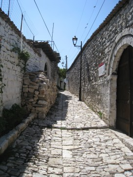 The street at the Onufri Museum in the citadel
