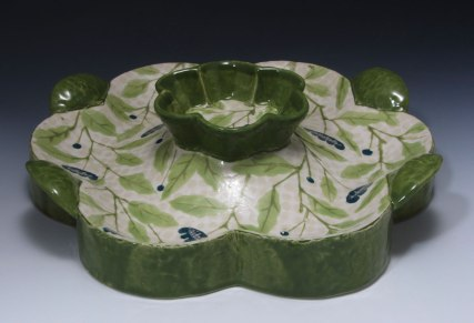 """slab and coil built, cone 6 porcelain, 12"""" x 4"""" x 12"""", 2011"""