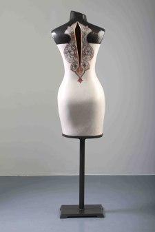 154 x 35 x 20 cm, Ceramic, Brass and Mixed media, 2016
