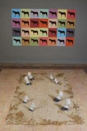 Print, Ceramic and Sound design, 4m x 5 m x 250 cm