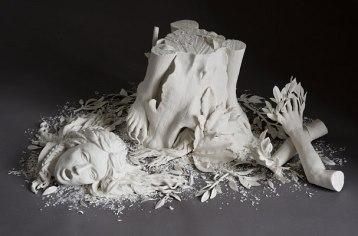 "53""x17""x40"", hand built porcelain, 12/2007"