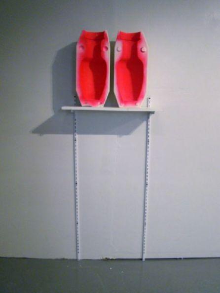 """2010, 72 x 24 x 8"""", found object, spraypaint, shelf and brackets"""